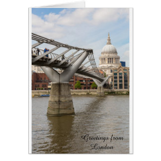 St Paul's Cathedral and the Millenium Bridge Greeting Card