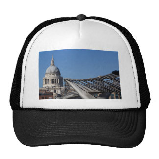 St Pauls Cathedral And The Millenium Bridge Mesh Hat
