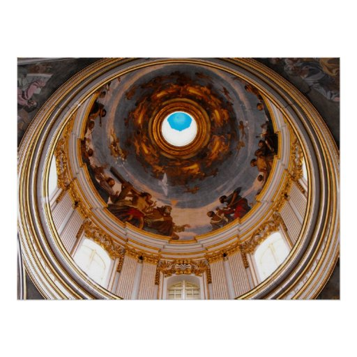 St Paul's Cathedral ceiling, Mdina Print