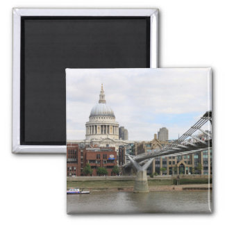'St.Paul's Cathedral, from Millennium Bridge Square Magnet