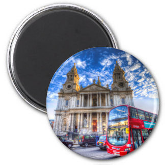 St Paul's Cathedral London 6 Cm Round Magnet