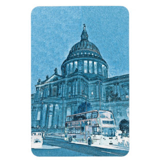St Paul's Cathedral London Art Rectangle Magnets