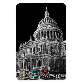 St Pauls Cathedral London Art Flexible Magnet