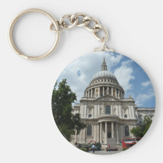 St Paul's Cathedral London Basic Round Button Key Ring
