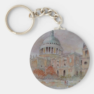 St Paul's Cathedral. London Basic Round Button Key Ring