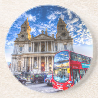 St Paul's Cathedral London Beverage Coasters