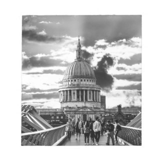St Paul's Cathedral, London - Black and White Notepad