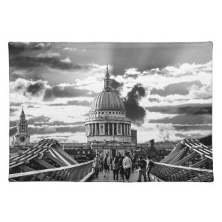 St Paul's Cathedral, London - Black and White Placemat