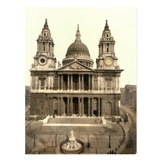 St Paul's Cathedral, London, England Postcard