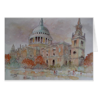 St Paul's Cathedral. London Greeting Card