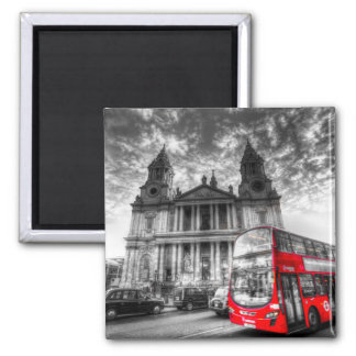 St Paul's Cathedral London Square Magnet