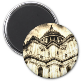 St Paul's Cathedral London Vintage 6 Cm Round Magnet