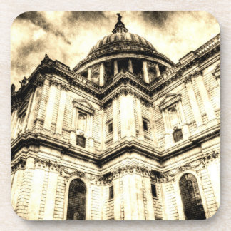 St Paul's Cathedral London Vintage Drink Coaster