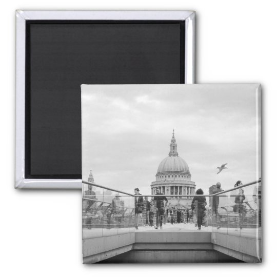 St. Paul's Cathedral Magnet: London Square Magnet
