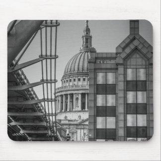 St. Paul's Cathedral & Millennium Bridge, London Mouse Pad