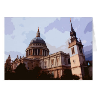 St Paul's Cathedral side view in London, UK Card