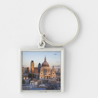 St Paul's Cathedral Silver-Colored Square Key Ring