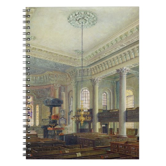 St. Paul's, Deptford (w/c on paper) Spiral Notebook