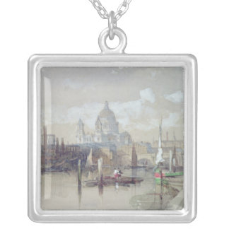 St. Pauls from the River, 1863 Silver Plated Necklace