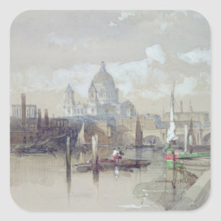 St. Pauls from the River, 1863 Square Sticker