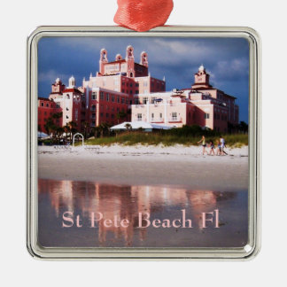St Pete Beach Castle Christmas Ornament