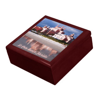 St Pete Beach Vacation Large Square Gift Box