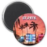 ST, PETE FL 6 CM ROUND MAGNET