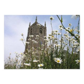 St Peter Ad Vincula church Combe Martin Devon UK 13 Cm X 18 Cm Invitation Card