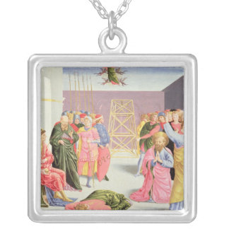 St. Peter and Simon Magus, 15th century Silver Plated Necklace