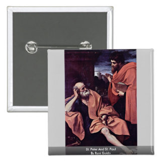 St. Peter And St. Paul By Reni Guido Pinback Buttons