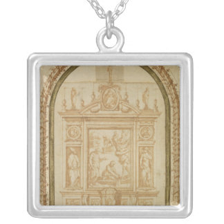 St. Peter Fishing, study for the Altar Silver Plated Necklace