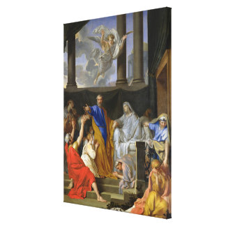 St. Peter Resurrecting the Widow Tabitha, 1652 Canvas Print