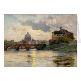 St Peter's Basilica & Saint Angelo's Castle Greeting Card