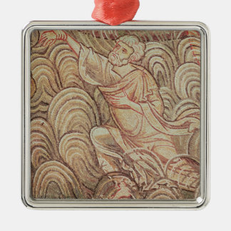 St. Peter Saved from Drowning Silver-Colored Square Decoration