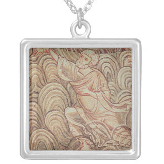 St. Peter Saved from Drowning Silver Plated Necklace