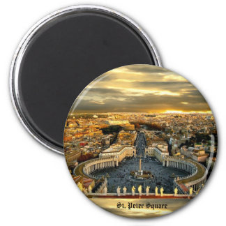 St. Peter Square - Standard, 2¼ Inch Round Magnet