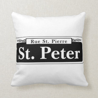 St. Peter St., New Orleans Street Sign Cushion