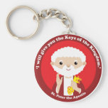 St. Peter the Apostle Basic Round Button Key Ring