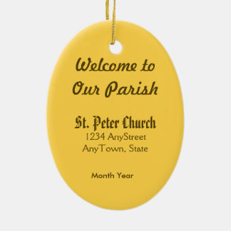 St. Peter the Apostle (PM 07) Ceramic Oval Decoration
