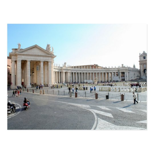 St Peter's Basilica and Columns in Vatican City.
