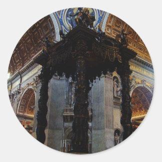 St. Peter's Basilica Round Sticker