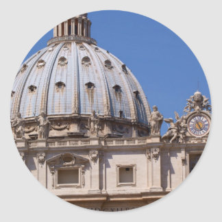 St Peter's Basilica Round Stickers