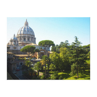 St. Peter's Basilica, Vatican City, Rome, Italy Stretched Canvas Print