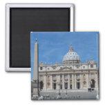 St Peter's Basilica- Vatican City Square Magnet