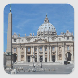 St Peter's Basilica- Vatican City Square Sticker