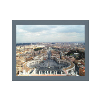 St. Peter's Basilica Vatican City Stretched Canvas Print