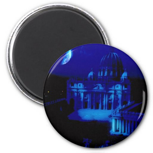 St. Peter's Basilica with moon Refrigerator Magnets