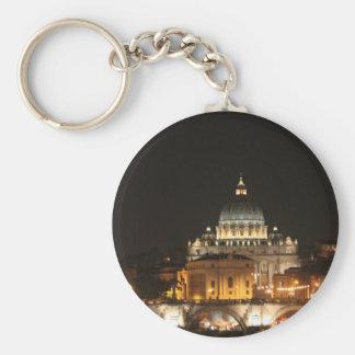 St Peter's Basillica Basic Round Button Key Ring