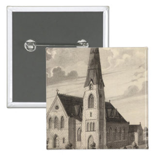 St Peter's Church and parochial residence 15 Cm Square Badge