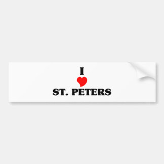ST. Peters Pink Girl Bumper Sticker
